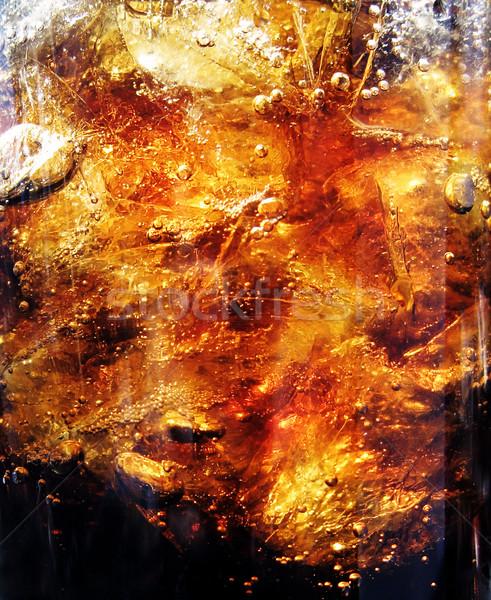 新鮮な ブラウン ドリンク 氷 クローズアップ ストックフォト © Dinga