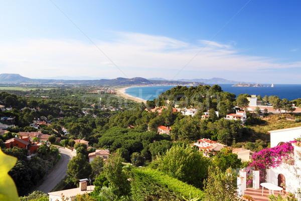 Panoramic view of private houses near the sea Stock photo © Dinga