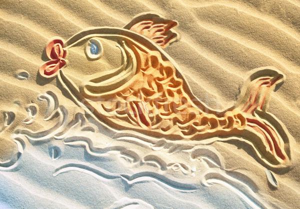 金魚 砂 ビーチ 自然 海 ストックフォト © Dinga