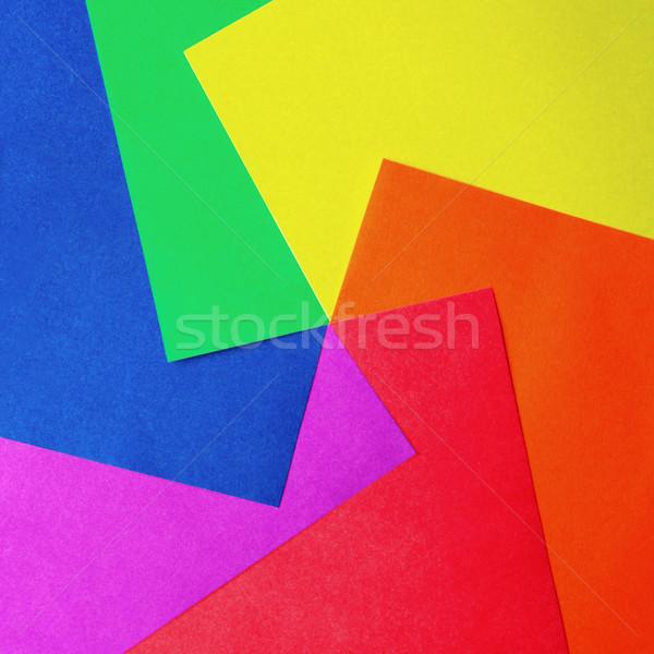 Zdjęcia stock: Kolor · papieru · nożyczki · kolorowy · budowy · projektu