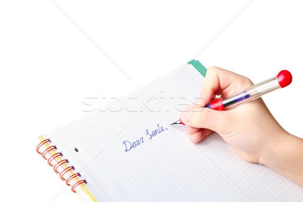 手 書く 手紙 サンタクロース 孤立した 白 ストックフォト © Dinga