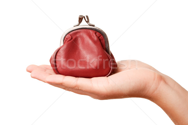 Hand and retro money pouch Stock photo © Dinga