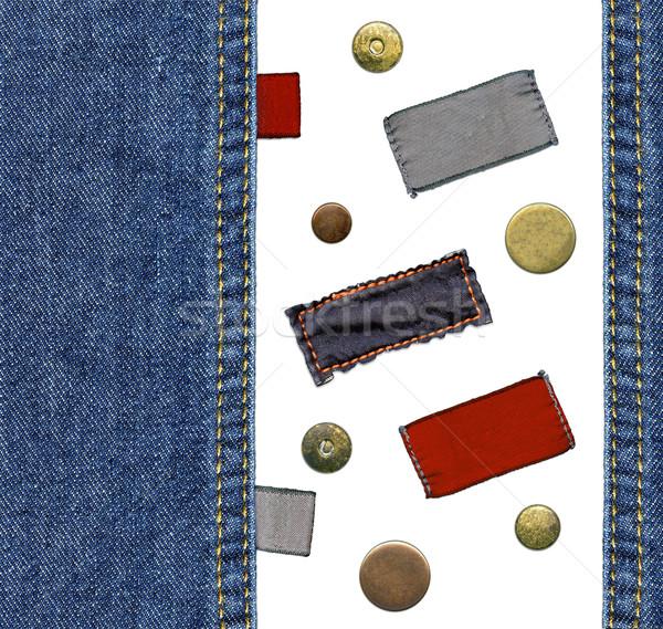 джинсов Этикетки набор подробный Сток-фото © Dinga