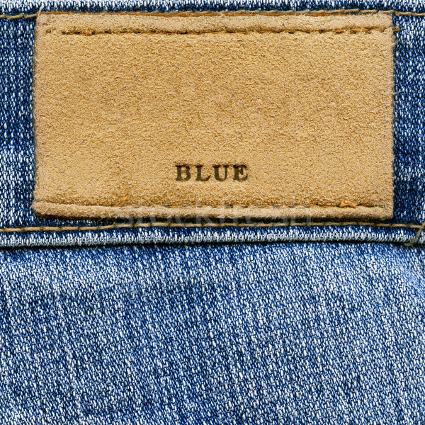 Label слово синий джинсовой Сток-фото © Dinga