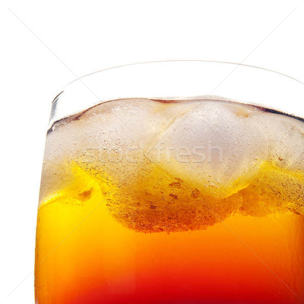 ドリンク ガラス クローズアップ 新鮮な 冷たい オレンジ ストックフォト © Dinga