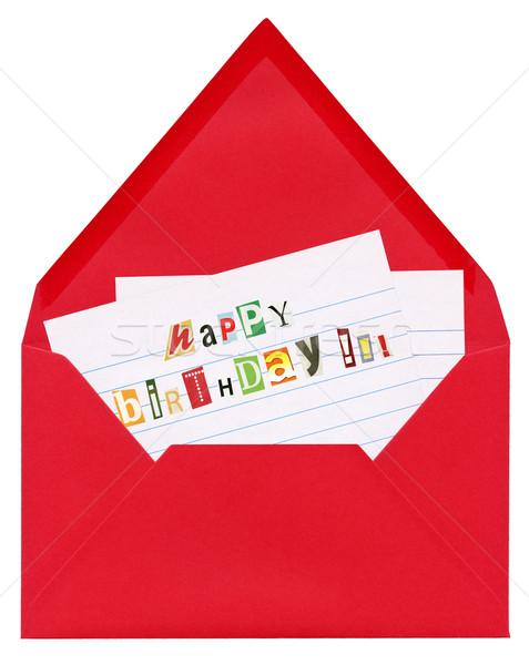 рождения письме открытых красный Сток-фото © Dinga