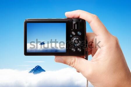 手 現代 デジタルカメラ クローズアップ 画像 ストックフォト © Dinga