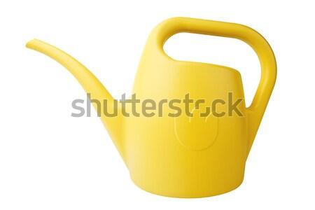 лейка современных желтый пластиковых изолированный белый Сток-фото © Dinga