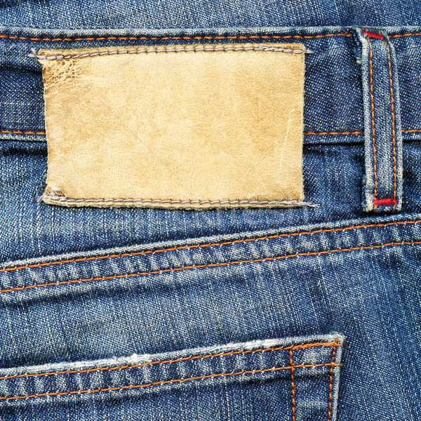 Leather label on jeans  Stock photo © Dinga