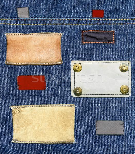 джинсов Этикетки набор различный Сток-фото © Dinga