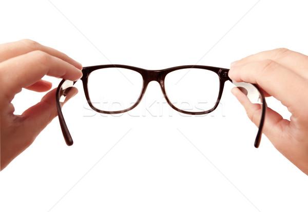 眼鏡 孤立した 白 手 医療 デザイン ストックフォト © Dinga