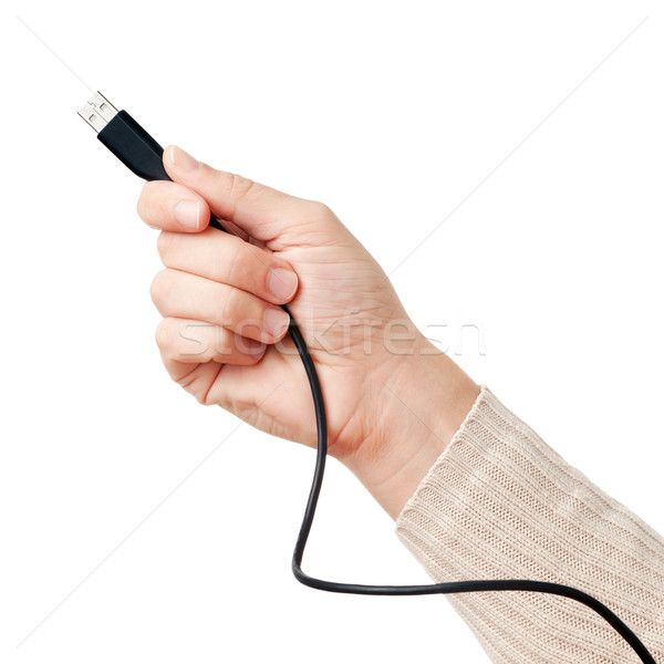 手 usb ケーブル 黒 ビジネス ストックフォト © Dinga