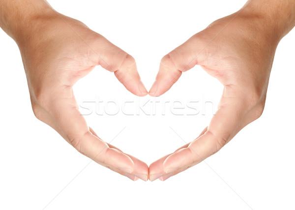 рук сердцах форма любви ухода Сток-фото © Dinga