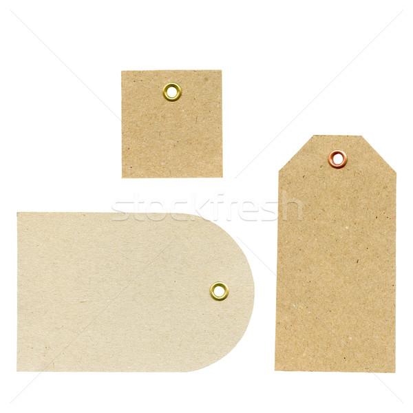Zdjęcia stock: Zestaw · papieru · trzy · nowego · brązowy