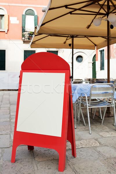 меню совета небольшой улице кафе бумаги Сток-фото © Dinga