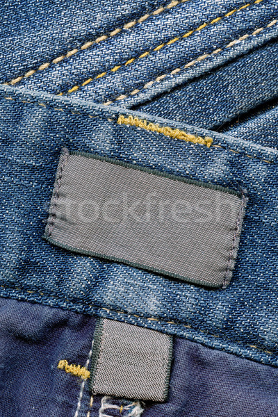 темно хлопка Этикетки джинсов внутри Сток-фото © Dinga
