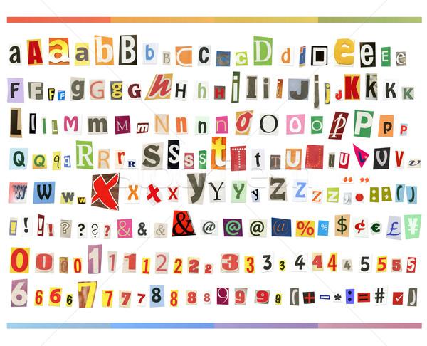 большой размер алфавит газет журналы Сток-фото © Dinga