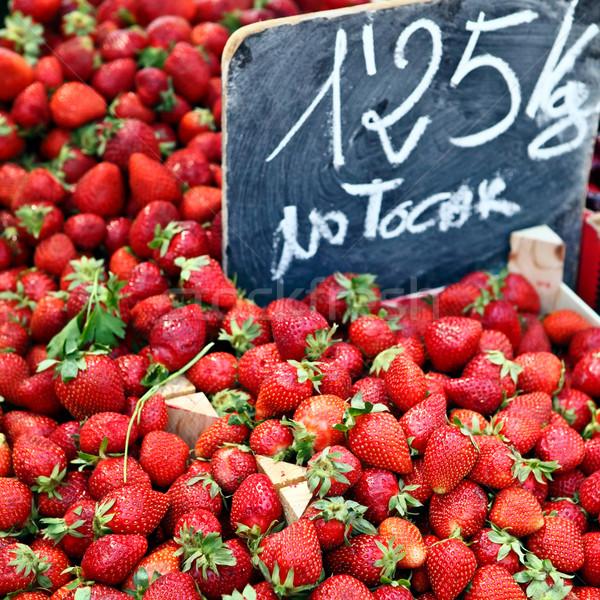 Soczysty truskawek rynek żywności charakter zdrowia Zdjęcia stock © Dinga