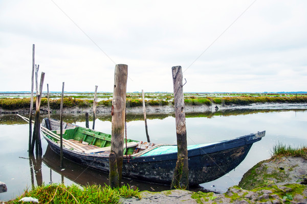 Boats in water canal Stock photo © dinozzaver