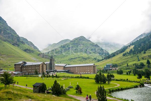 La Molina in valley in summer, Pyrenees Stock photo © dinozzaver