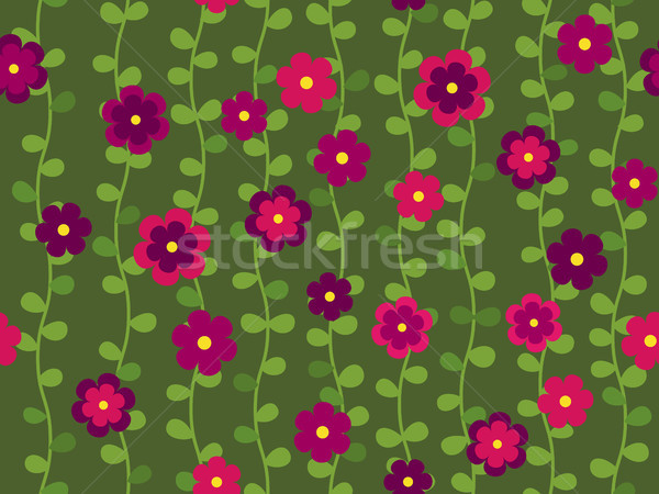 Seamless flower pattern Stock photo © dinozzaver