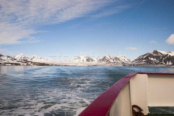 Hajó mozog messze gleccser sarkköri tenger Stock fotó © dinozzaver