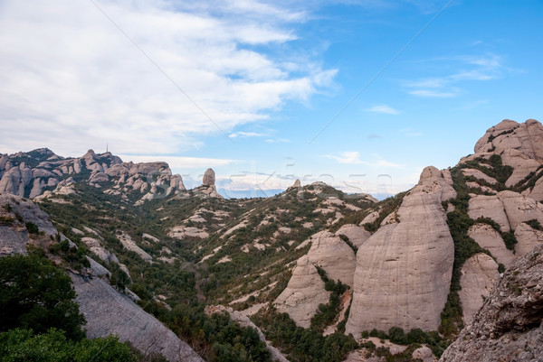 Mountains of Montserrat, near Barcelona Stock photo © dinozzaver