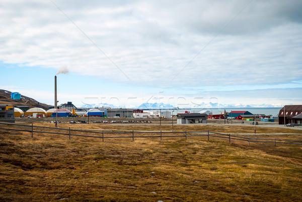 Industrial ciudad casa paisaje montana industria Foto stock © dinozzaver