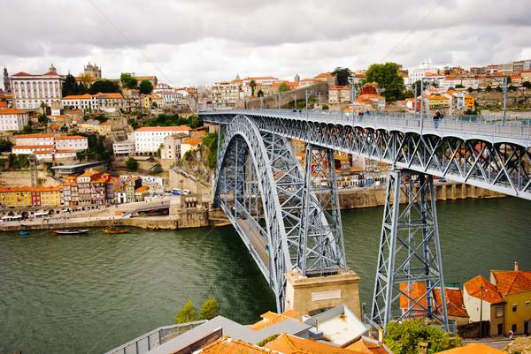 Ponte casa vino città arancione viaggio Foto d'archivio © dinozzaver