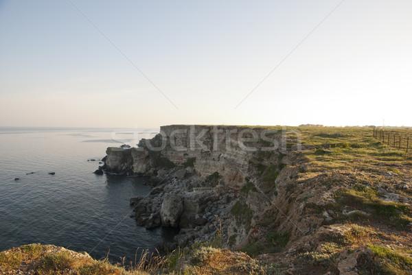 Cliffs above Black sea, Bulgarian coast Stock photo © dinozzaver