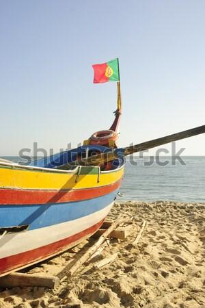 старые рыбалки лодках типичный пляж воды Сток-фото © dinozzaver