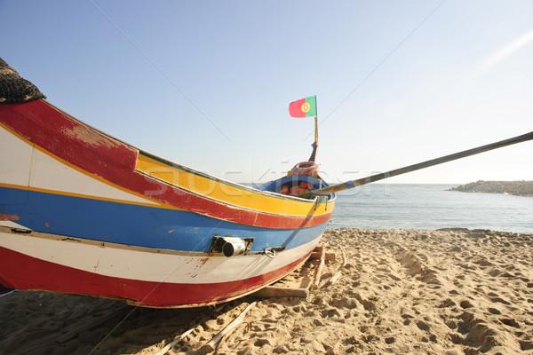 Old fishing boats Stock photo © dinozzaver