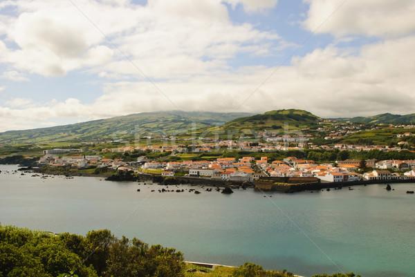 View isola cielo città mare bellezza Foto d'archivio © dinozzaver