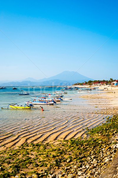 Paradies Strand Indonesien türkis Insel Wasser Stock foto © dinozzaver
