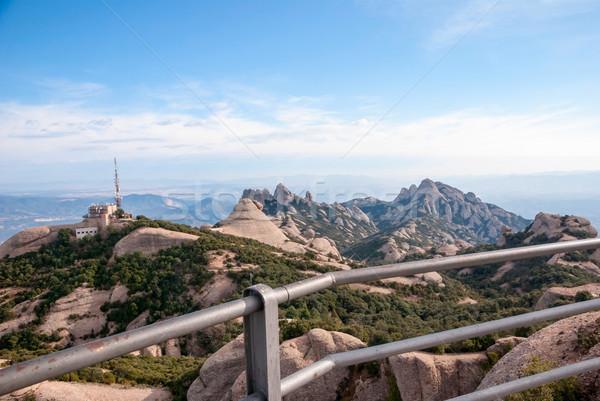 Montanas Barcelona vista cielo edificio paisaje Foto stock © dinozzaver
