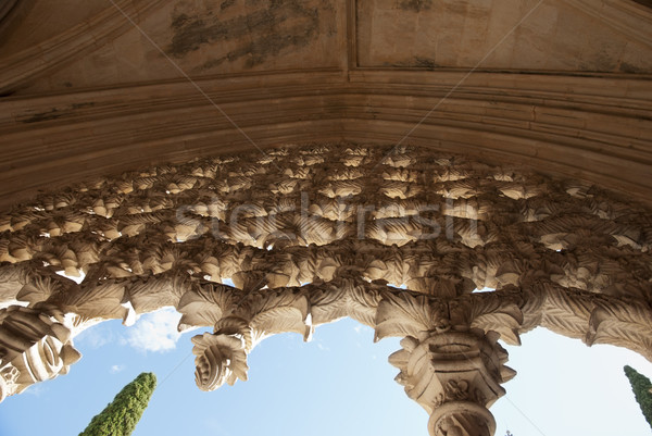 Pormenor mosteiro unesco mundo cultural herança Foto stock © dinozzaver