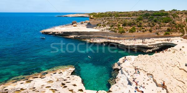 Stockfoto: Kust · Malta · witte · hemel · water