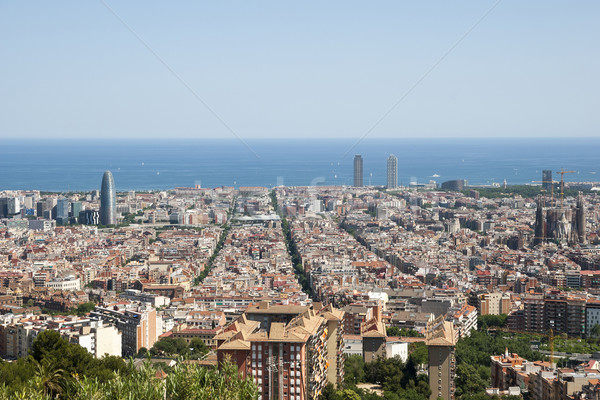 View over Barcelona, Spain Stock photo © dinozzaver