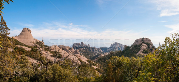 Mountains of Montserrat panorama, Catalonia, Spain Stock photo © dinozzaver