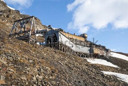 石炭 鉱山 駅 捨てられた 風景 ホーム ストックフォト © dinozzaver