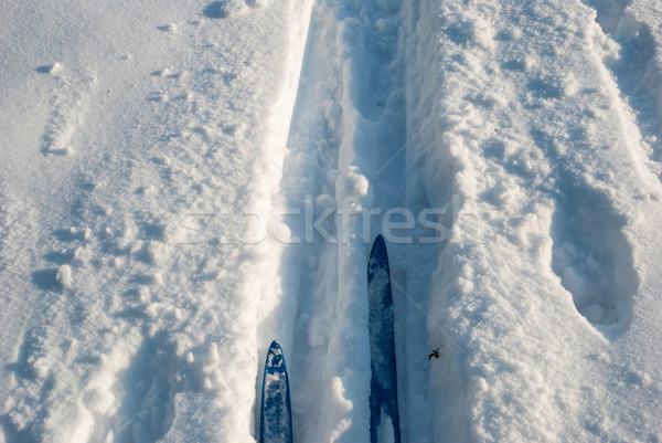Stock photo: Cross country ski track