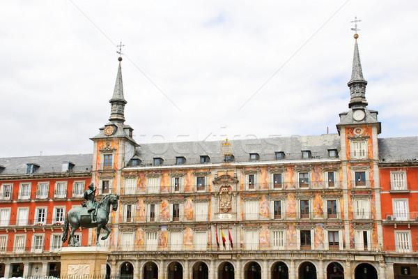 Мадрид Испания здании стены лошади Сток-фото © dinozzaver