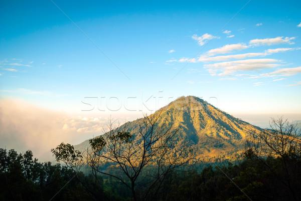 мнение пейзаж кратер Индонезия вулканический гор Сток-фото © dinozzaver