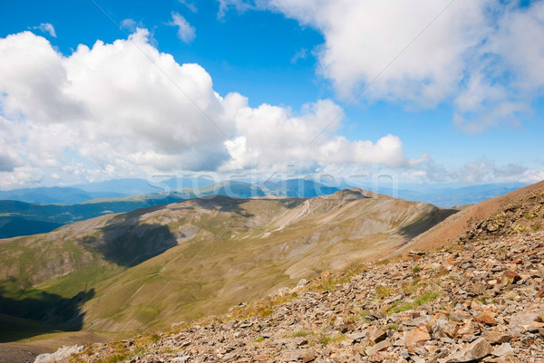 View over Pyrenees mountains, Spain Stock photo © dinozzaver