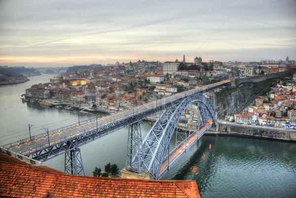 Ponte view acqua vino costruzione blu Foto d'archivio © dinozzaver