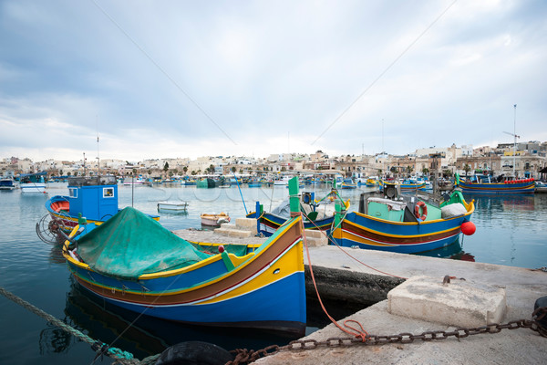 Stockfoto: Boten · Malta · water · zee · zomer