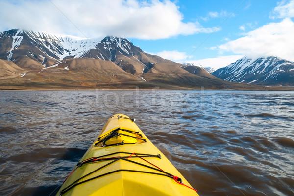 морем первый человек мнение Арктика Сток-фото © dinozzaver