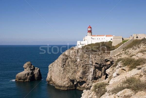 Faro suroeste punto Europa Portugal cielo Foto stock © dinozzaver