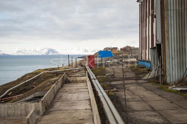 Abandonado calle ruso agua edificio ciudad Foto stock © dinozzaver