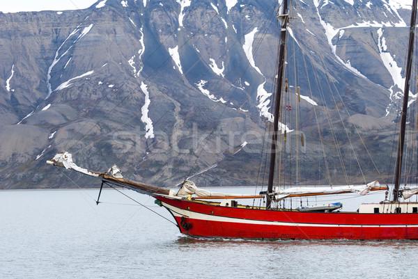 судно парусного Арктика морем воды красоту Сток-фото © dinozzaver